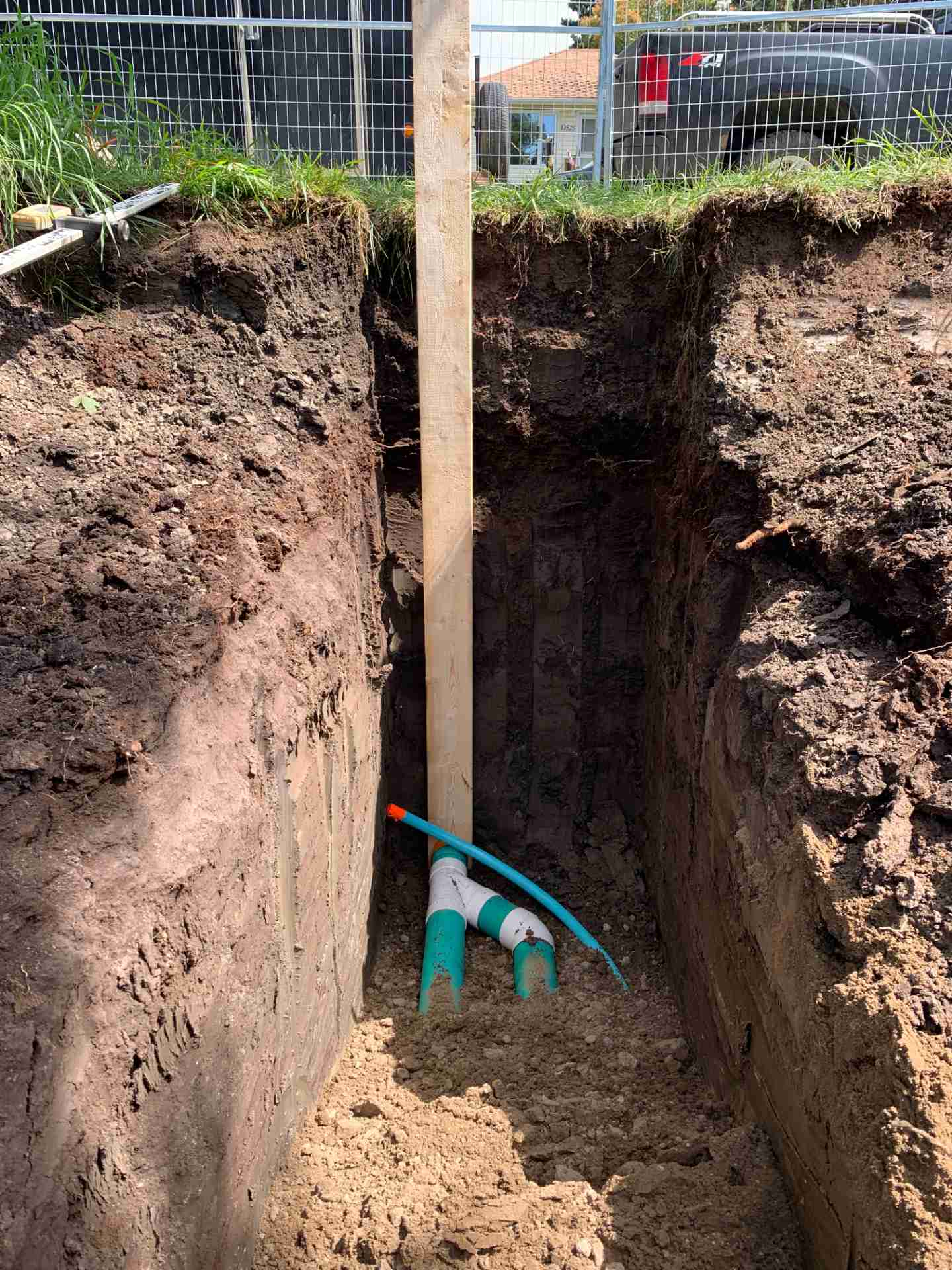 water sewer install